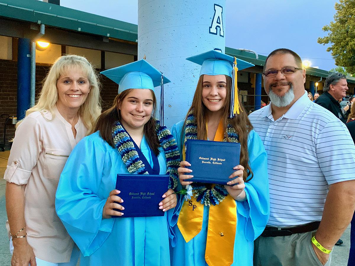 Alexandra, Amanda, Pete & Julie at graduation